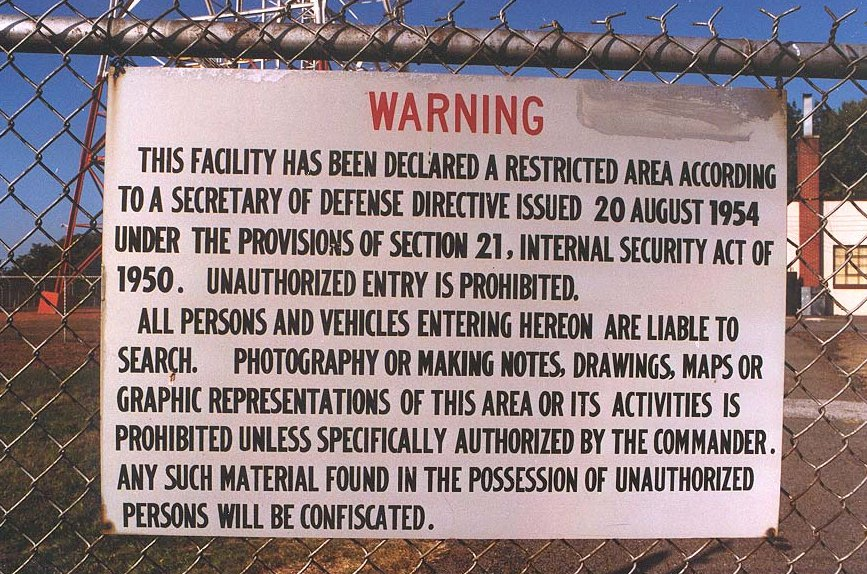 FEMA camps are restricted area and surrounded by full-time guard